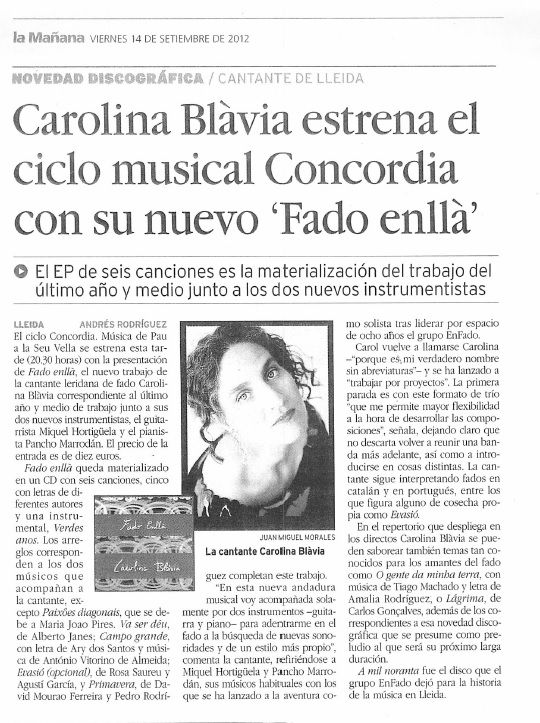 Carolina Blavia a Concordia