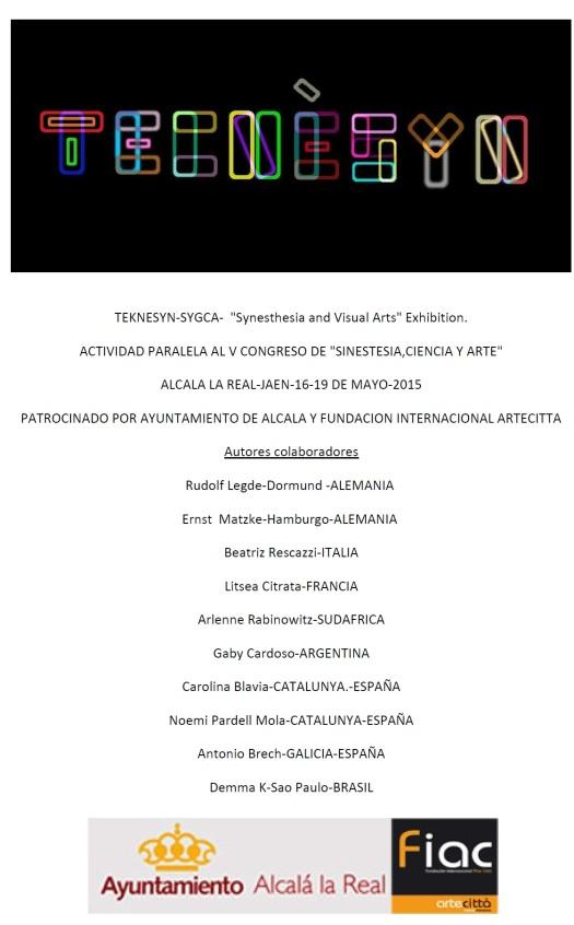 Exposició música Visual. Alcalà la Real 2015. V Congrès Cinestèsia.